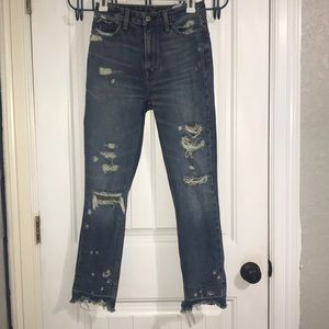 Abercrombie Annie high rise girlfriend jeans